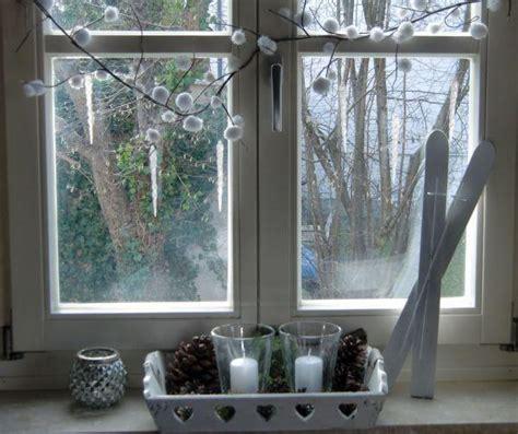 Herbst Winterdeko Fensterbank by Winterdeko Fenster Indoo Haus Design