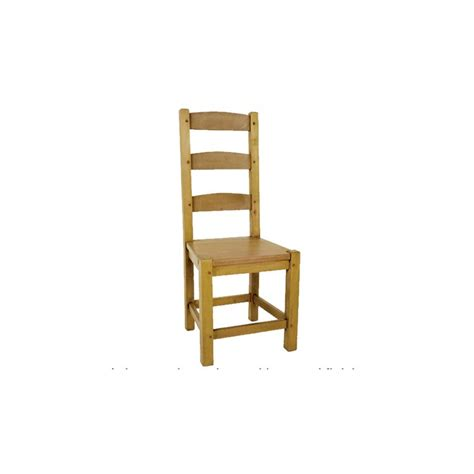 shaker ladder back chair with wooden seat
