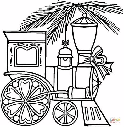 christmas train coloring page  printable coloring pages