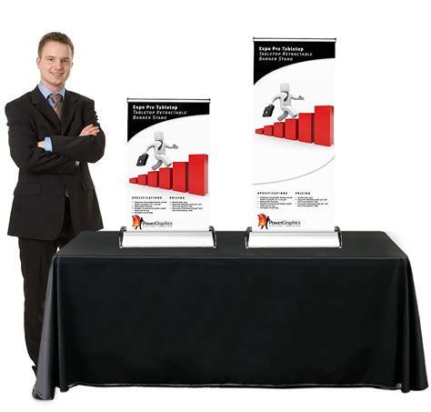 expo pro table top retractable table top banner stand