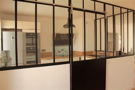 porte coulissante de cuisine verrière de cuisine avec porte coulissante