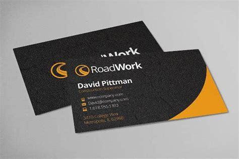 construction business card templates ai word