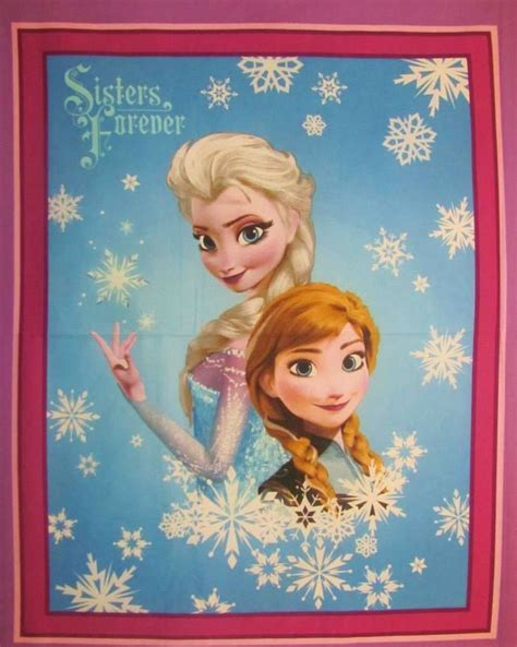 Up For Auction  Frozen Sisters Forever Fabric Panel  Kids & Novelty  Pinterest Frozen