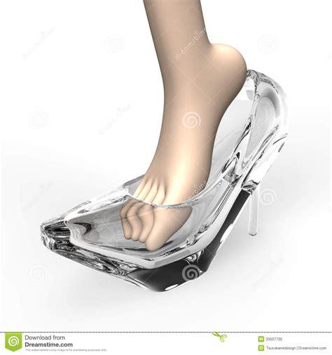 pantoufle et pied en verre photo stock image 33507730