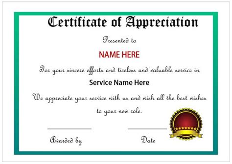 employee recognition certificates templates free certificate of appreciation for employees printable
