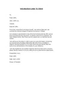 new letter of introduction sle business introduction letter new clients sle business letter