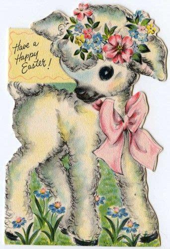 vintage easter card hallmark      loved