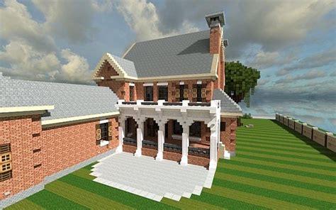 minecraft bathroom ideas plantation home country brick minecraft house design