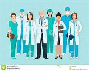 Nurse, Medical And Hospital Staff Characters. Cartoon ...
