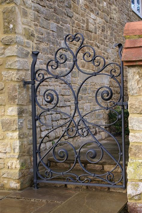 wrought iron gates burrows lea forge forged ironwork