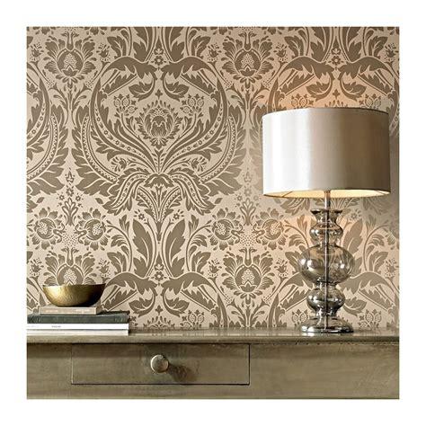 desire taupe cream damask wallpaper desire gold damask