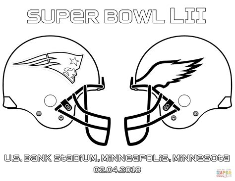 super bowl  coloring page  printable coloring pages