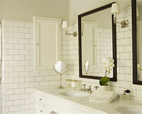 white subway tile grey grout home design ideas pictures