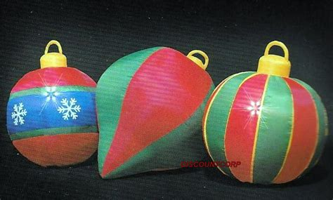 outdoor lighted christmas ornaments 3 8 ft inflatable ornaments lighted outdoor christmas yard