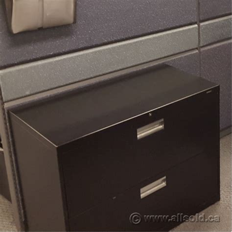 Used Hon 2 Drawer Lateral File Cabinet by Hon Black 2 Drawer Lateral File Cabinet Locking Allsold