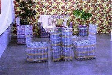 decorar en crisis sillas sillones o taburetes con botellas