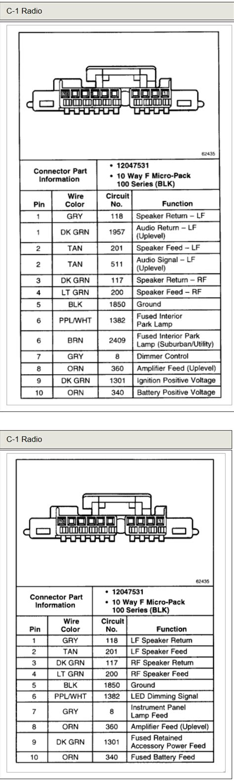 2000 Tahoe Stereo Wiring Diagram Schematic by Chevrolet Car Radio Stereo Audio Wiring Diagram Autoradio