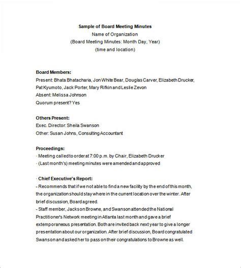 board minutes template 13 board meeting minutes templates doc pdf free premium templates