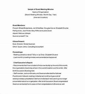 board minute template - 13 board meeting minutes templates doc pdf free