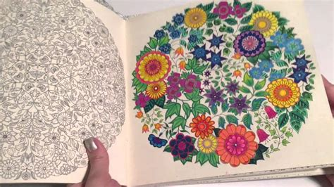 secret garden adult coloring book review youtube