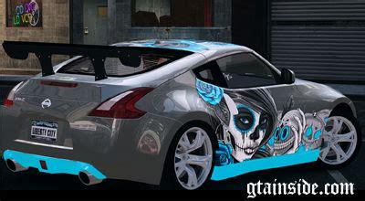nissan 370z custom paint jobs gta 4 nissan 370z paintjob by extaron mod gtainside com
