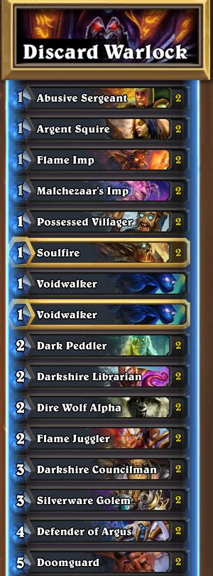 Hearthstone October Standard Deck Selection  Hipsters Of