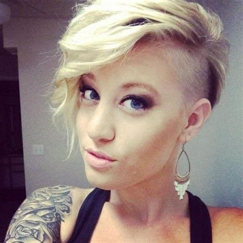 2019 popular short hairstyles one side shaved