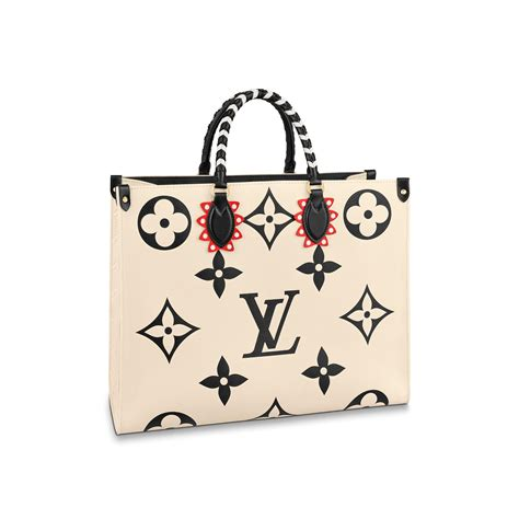 lv crafty onthego gm monogram empreinte leather  black handbags  louis vuitton