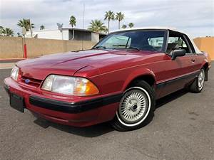 17,000 Miles From New: 1990 Ford Mustang Convertible