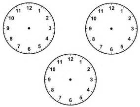 Blank Clock Face Template Printable