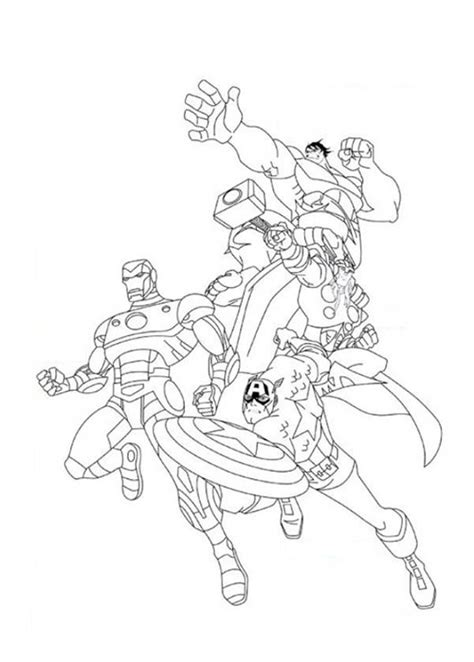 awesome  avengers poster coloring page  print  coloring pages