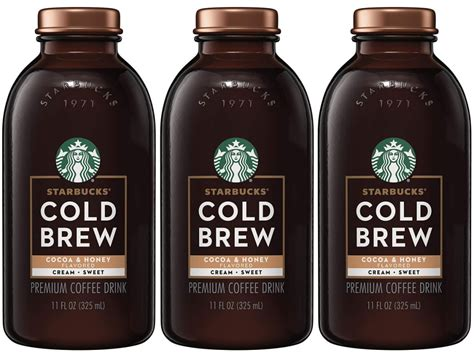 Select a store to view availability Starbucks Cocoa & Honey w/ Cream Cold Brew Coffee 12-Pack Only $18.71 Shipped - Hip2Save