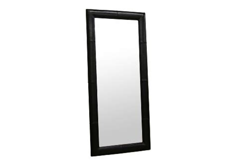 floor mirror black frame how to baxton studio bianca floor mirror with bycast leather frame black shopping