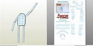 Papercraft .pdo file template for Adventure Time - Snow Golem.