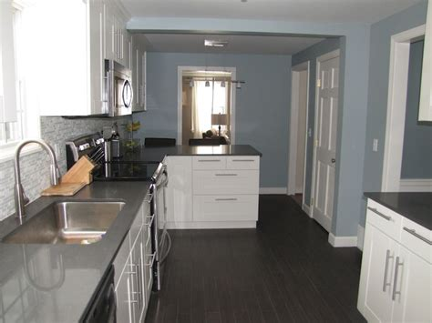 slate blue paint color contemporary kitchen benjamin