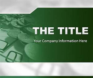 PowerPoint Template - Green Finance background #Free #PPT ...