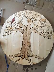 Just, Finished, Wood, Burning, A, Family, Tree, For, My, Grandparents, Woodburning