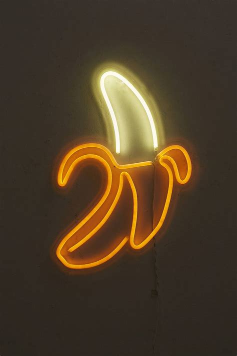 banana neon sign lamps  lighting neon signs neon