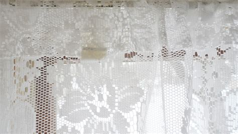 jcpenney lace kitchen curtains vintage shabby floral chic white lace jc penney