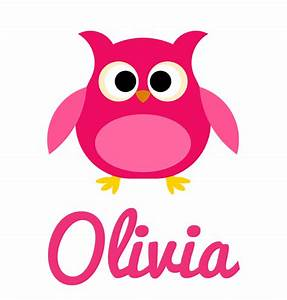 Girl's Name Pink Owl Baby Onesie Personalised Baby