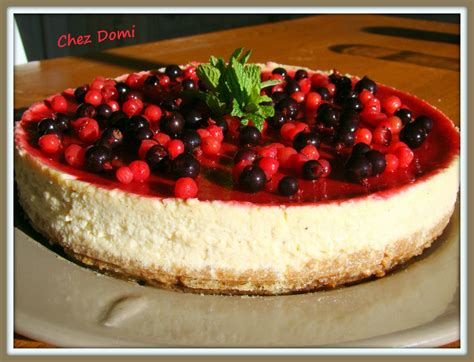 cheese cake 224 la vanille et aux fruits rouges domi vous