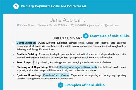 Key Skills Resume by Resume Exle With A Key Skills Section