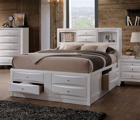 storage bed white acme furniture white king storage bed the