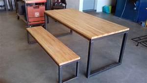 Table Fer Bois : grande famille grande table au fil du rabot ~ Teatrodelosmanantiales.com Idées de Décoration
