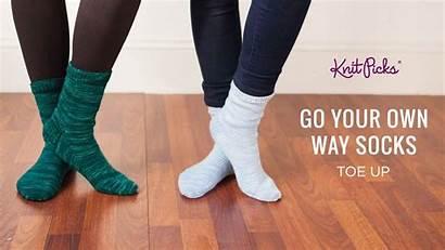 Socks Toe Down Way Own Sock Pattern