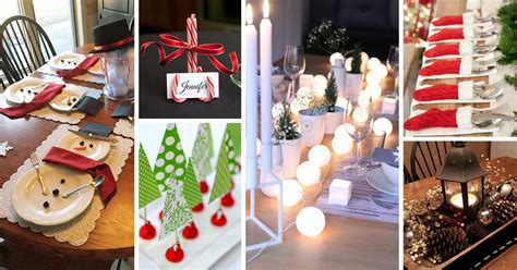 diy christmas table decoration ideas