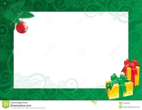 christmas card  empty blank  text stock vector