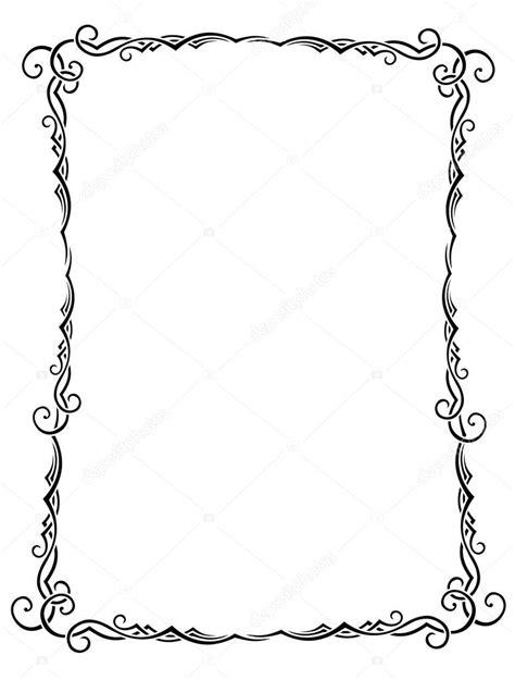 clipart cornice cornice d epoca bianco e nero vettoriali stock
