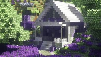 Minecraft Aesthetic Lavender Houses Cottage Cool Cabin