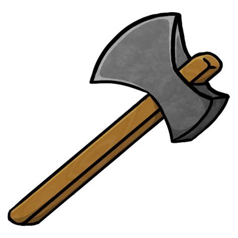 minecraft stone axe icon png clipart image iconbug com